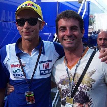 ...con Valentino Rossi