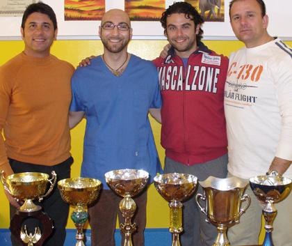 Bernardi con Morese, Pasqualini e Taddia