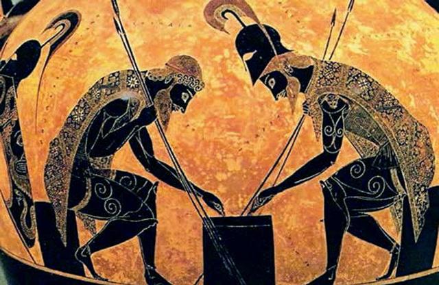 exekias con Achille e Aiace