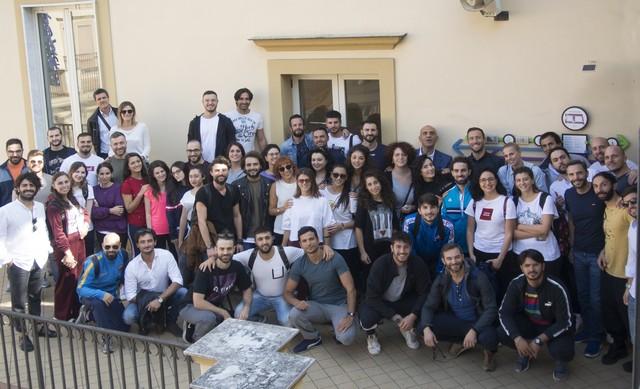 Foto di gruppo degli allievi di Napoli
